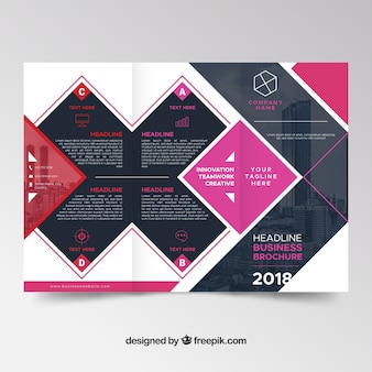 Abstract modern driebladig brochureontwerp