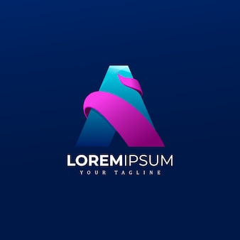 Abstract modern een logo