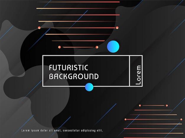 Abstract modern futuristisch donker ontwerp als achtergrond