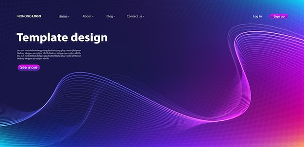 Abstract modern ontwerp als achtergrond. bestemmingspagina. sjabloon voor websites of apps. vector.