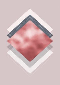 Abstract modern ontwerp met roze gouden textuur