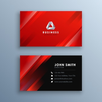 Abstract modern rood visitekaartje