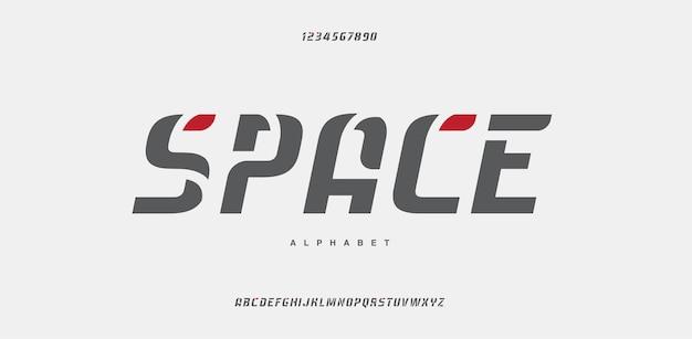 Abstract modern stedelijk alfabetlettertype