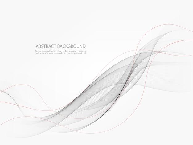 Abstract modern transparant grijs certificaat met swoosh snelheidslijnen. illustratie