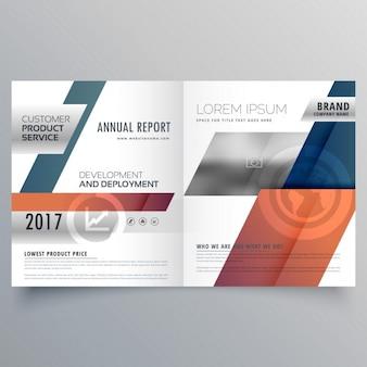 Abstract modern tweevoudig brochure ontwerp voor uw bedrijf