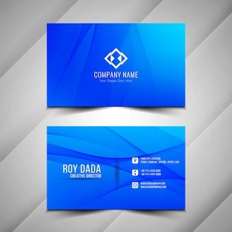 Abstract modieus blauw visitekaartjeontwerp