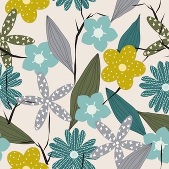 Abstract naadloos bloemenoppervlaktepatroon