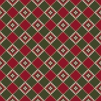 Abstract naadloos breipatroon. kerst gebreide trui design. wol gebreide textuur imitatie.