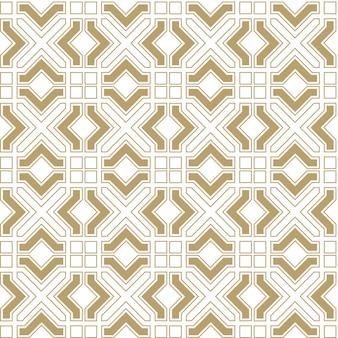 Abstract naadloos geometrisch patroon in arabische stijl
