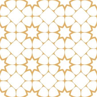 Abstract naadloos patroon in arabische stijl met gestileerde sterren