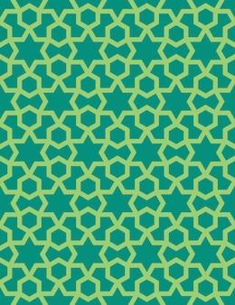 Abstract naadloos patroon in arabische stijl