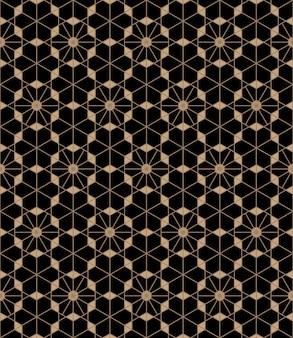 Abstract naadloos patroon in japanse kumikostijl.