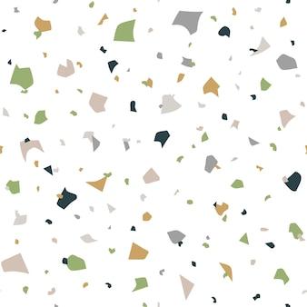 Abstract naadloos patroon in terrazzostijl