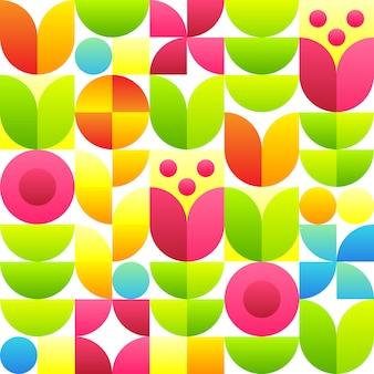 Abstract naadloos patroon met bloemen