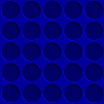 Abstract naadloos patroon met cirkelgaten in blauwe kleuren