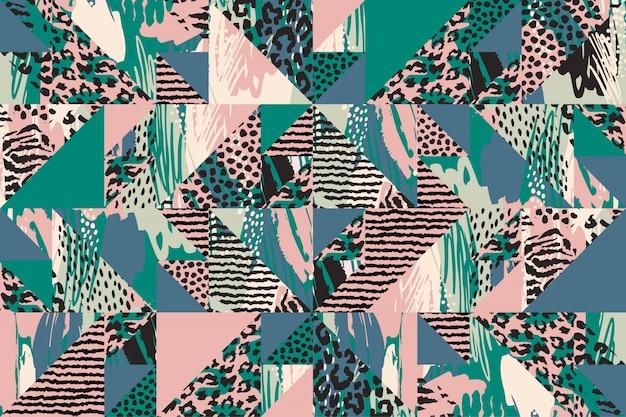 Abstract naadloos patroon met dierlijke druk
