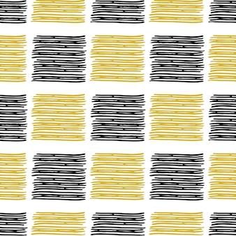 Abstract naadloos patroon met dunne lijnen.