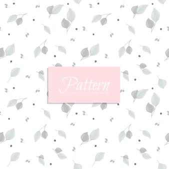 Abstract naadloos patroon met grijze bladeren