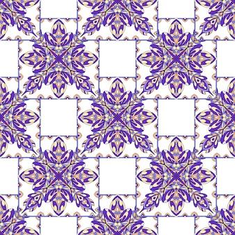 Abstract naadloos patroon met helder stammenornament.