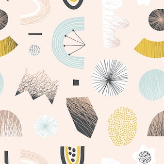 Abstract naadloos patroon met kleurrijke vormen