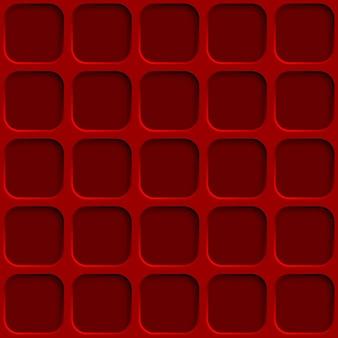 Abstract naadloos patroon met vierkantengaten in rode kleuren