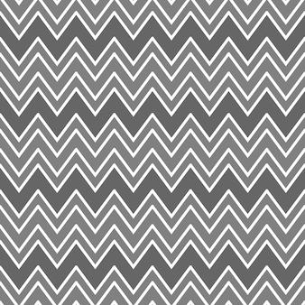 Abstract naadloos patroon met zigzaglijnen die een geometrisch ornament vormen in grijze kleuren chevronpatroon