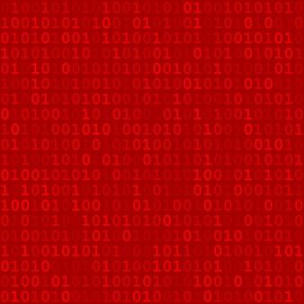 Abstract naadloos patroon van kleine cijfers één en nul in rode kleuren