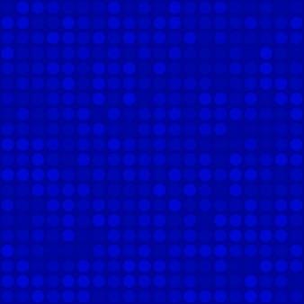 Abstract naadloos patroon van kleine cirkels of pixels in blauwe kleuren