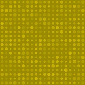 Abstract naadloos patroon van kleine cirkels of pixels in verschillende maten in gele kleuren
