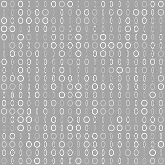 Abstract naadloos patroon van kleine ringen of pixels in verschillende maten in grijze kleuren