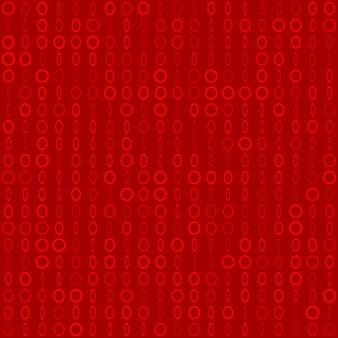 Abstract naadloos patroon van kleine ringen of pixels in verschillende maten in rode kleuren