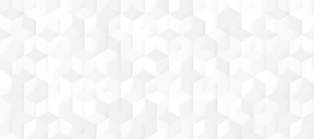 Abstract naadloos wit en grijs vierkant 3d patroon.