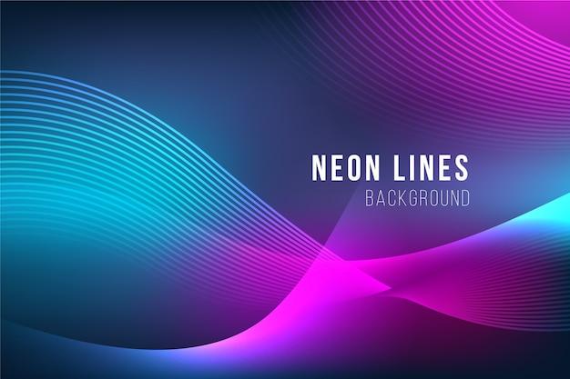 Abstract neon lijnen behang