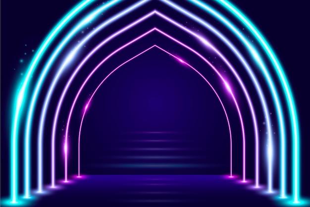 Abstract neonlichten behang concept