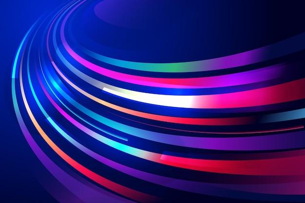 Abstract neonlichten behang