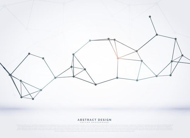 Abstract netwerk digitale wireframe mesh vector achtergrond