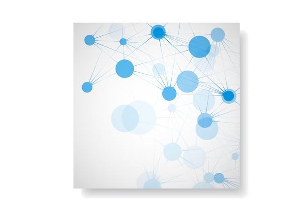 Abstract netwerk met moleculaire verbinding en technologienetwerk