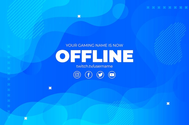 Abstract offline twitch bannerontwerp