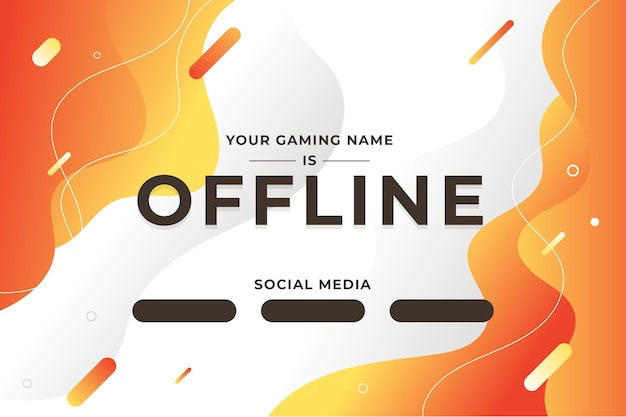 Abstract offline twitch bannerontwerp