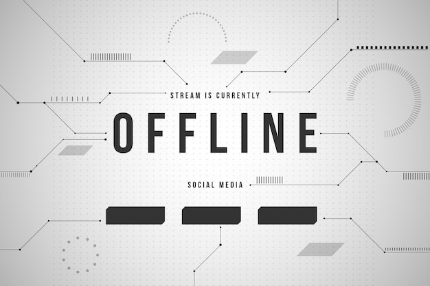 Abstract offline twitch-bannerthema