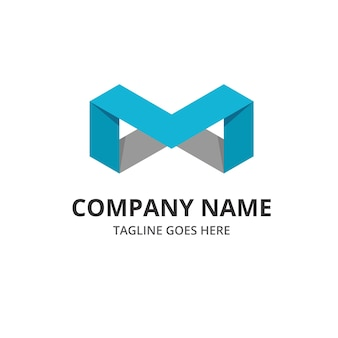 Abstract oneindige letter m logo element