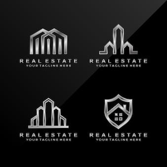 Abstract onroerend goed-logo