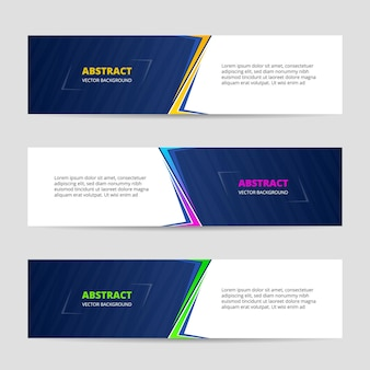 Abstract ontwerp banner websjabloon collectie