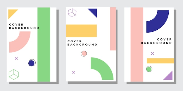 Abstract ontwerp cover set