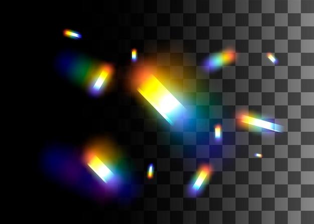 Abstract ontwerp element regenboog kleuren effect vectorillustratie op transparante achtergrond.