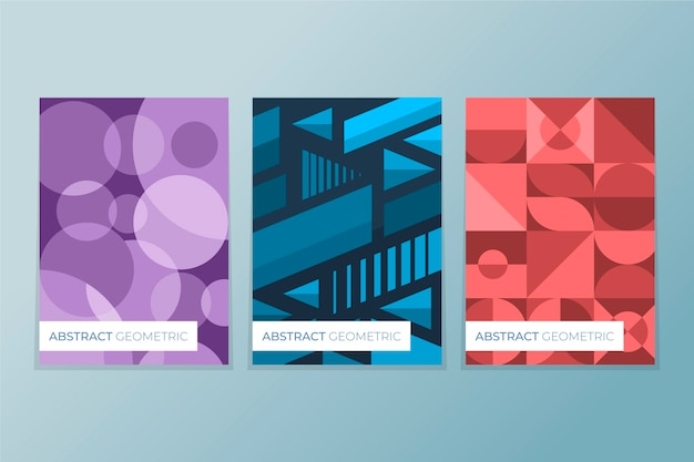 Abstract ontwerp geometrische cover set