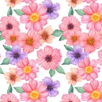 Abstract ontwerp met waterverf bloemenpatroon