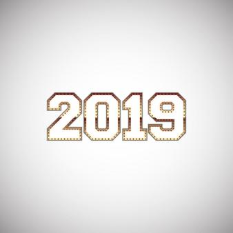 Abstract ontwerp nieuwjaar nummers 2019