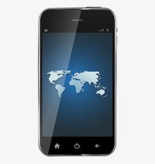Abstract ontwerp realistische mobiele telefoon met