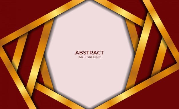 Abstract ontwerp rode en gouden achtergrond